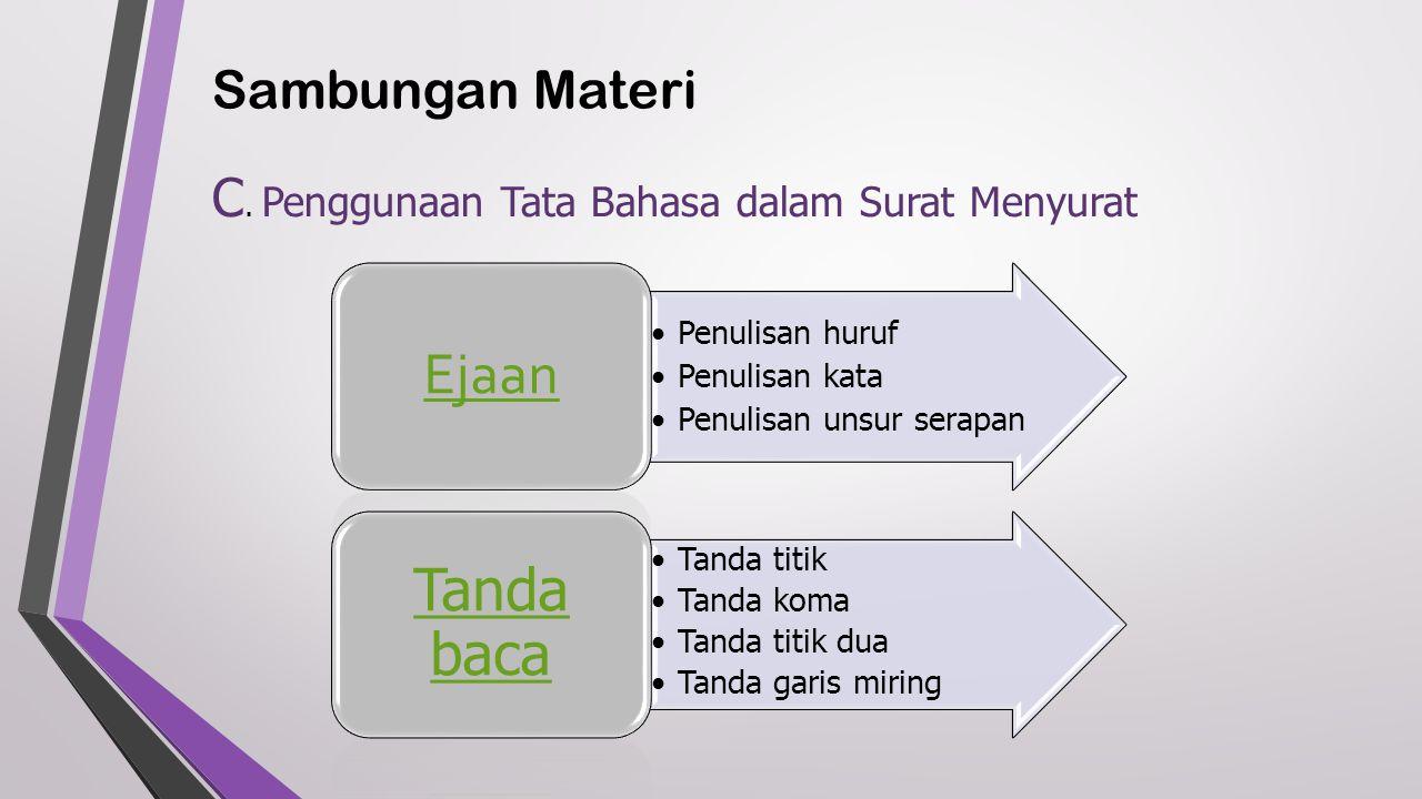 Sambungan Materi C.