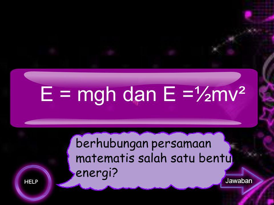 Apa yang dimaksud energi mekanik?