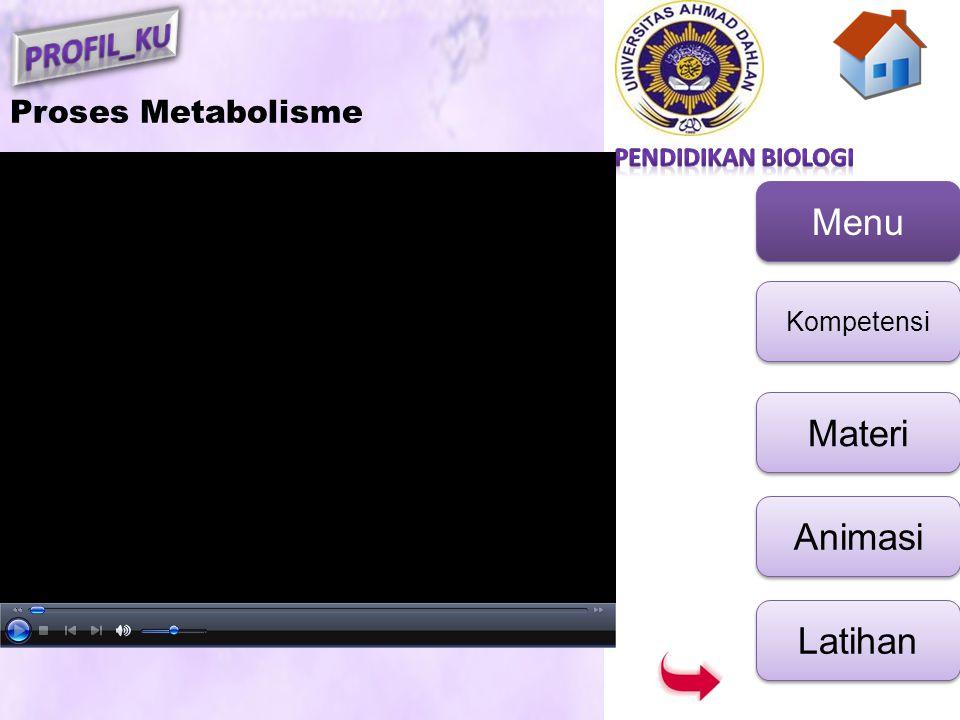 Menu Kompetensi Materi Animasi Latihan Proses Metabolisme