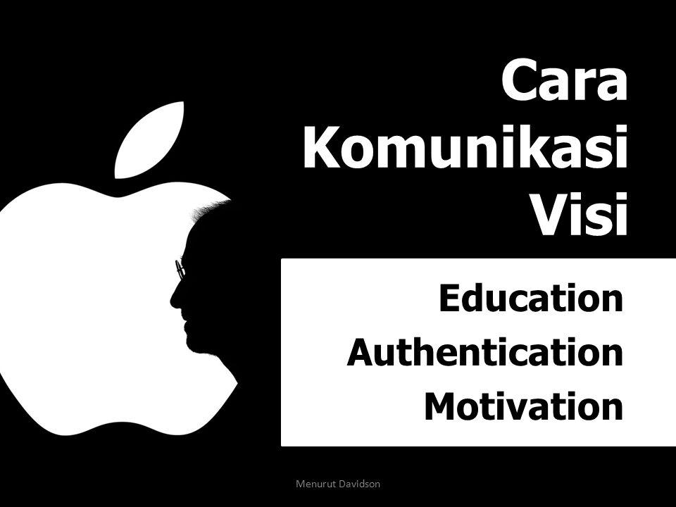 Cara Komunikasi Visi Education Authentication Motivation Menurut Davidson