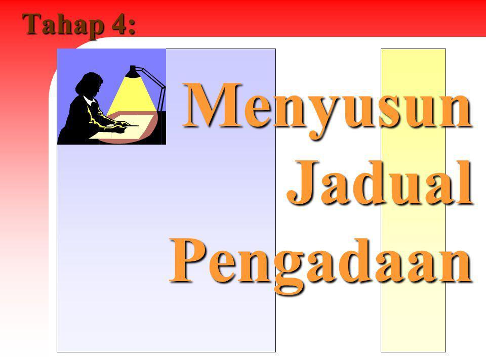 Tahap 4: Menyusun Jadual Pengadaan
