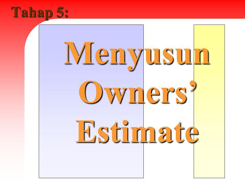 Tahap 5: Menyusun Owners' Estimate