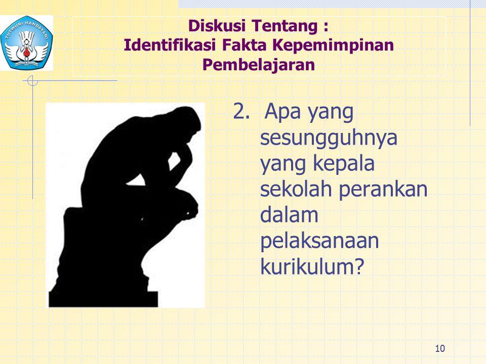 Diskusi Tentang : Identifikasi Fakta Kepemimpinan Pembelajaran 2.