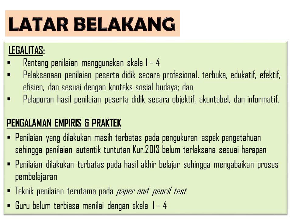 a.UU No.20 Tahun 2003 tentang Sistem Pendidikan Nasional b.PP No.