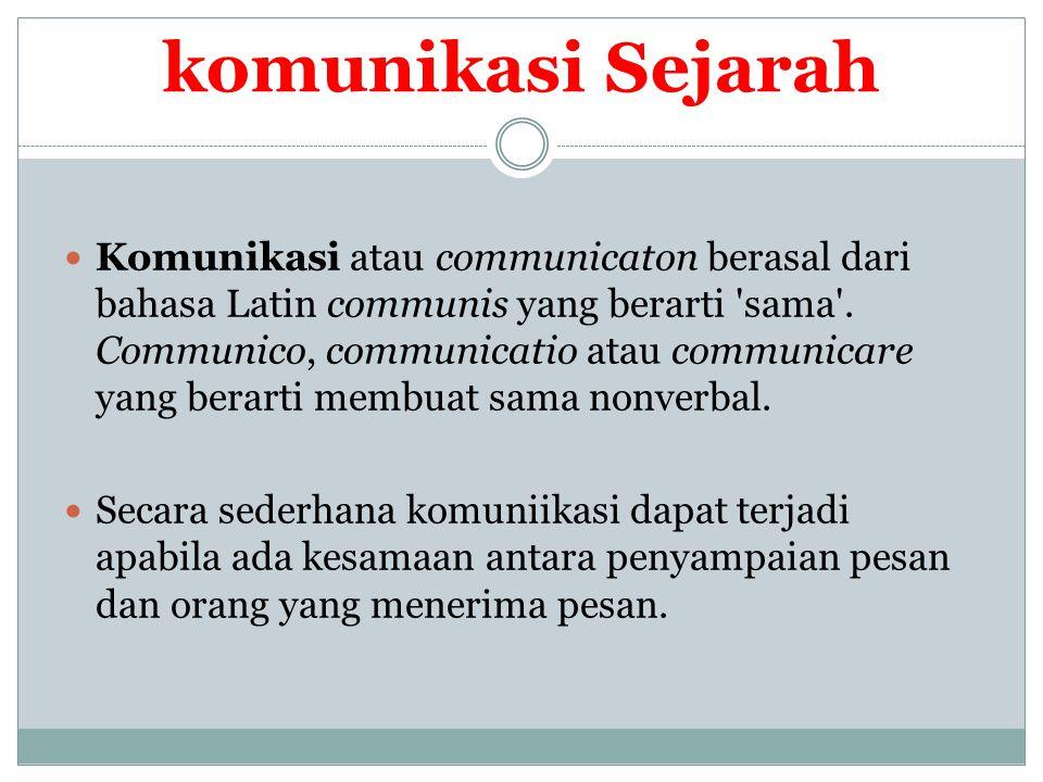 Lanjutan….Pada awalnya, komunikasi digunakan untuk mengungkapkan kebutuhan organis.