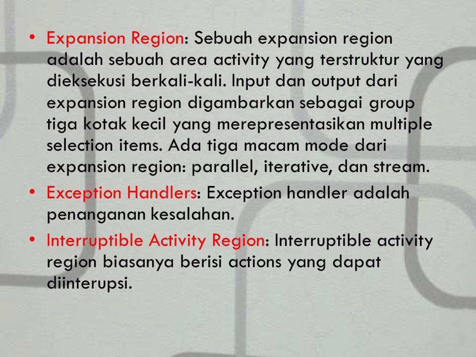 Expansion Region: Sebuah expansion region adalah sebuah area activity yang terstruktur yang dieksekusi berkali-kali.