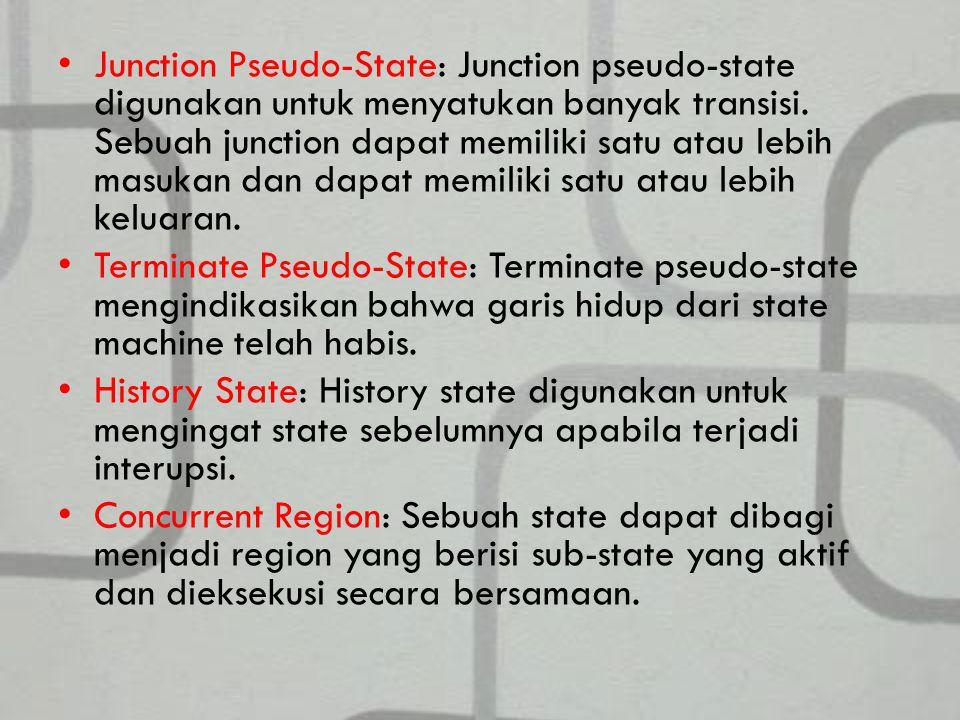 Junction Pseudo-State: Junction pseudo-state digunakan untuk menyatukan banyak transisi.