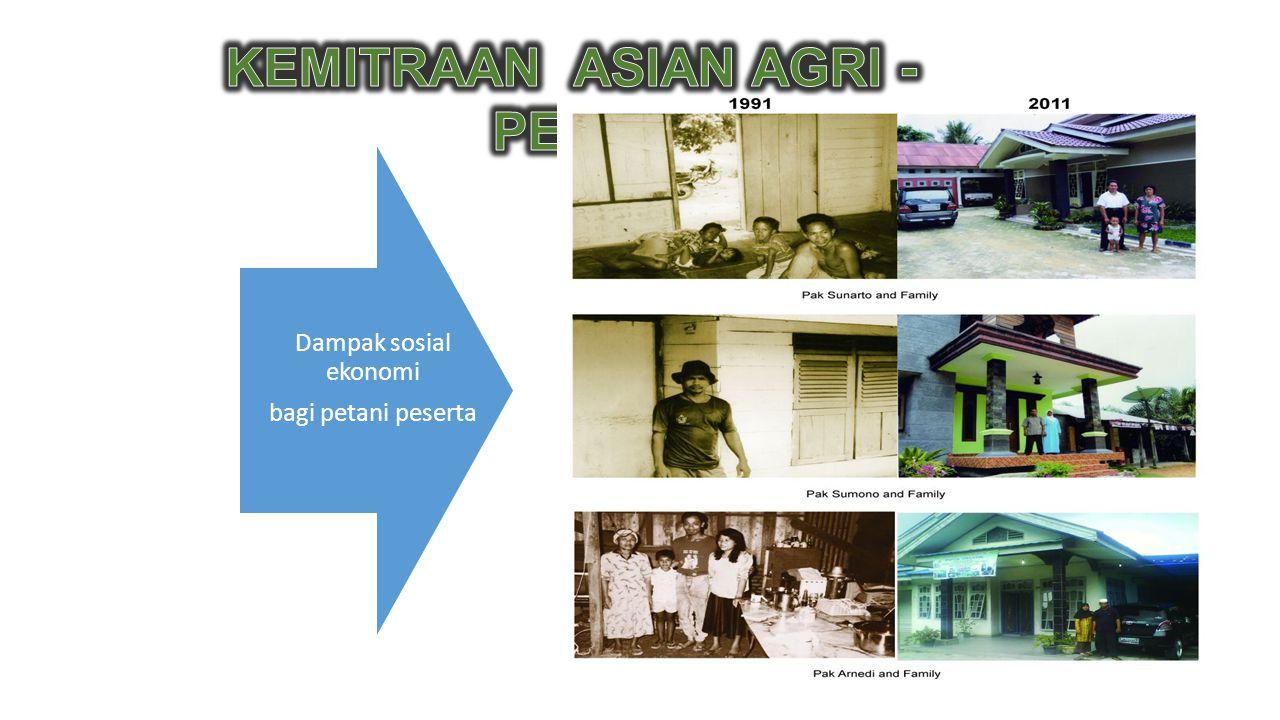 Dampak sosial ekonomi bagi petani peserta