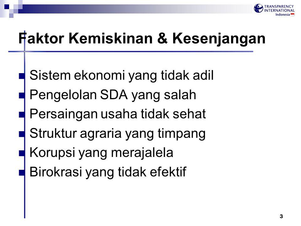4 Akar masalah Korupsi Lemahnya supremasi hukum Pengawasan yang tidak memadai Birokrasi yang panjang & rumit Penyalahgunaan kekuasaan Ketiadaan alat untuk mencegah korupsi Tertutupnya akses informasi