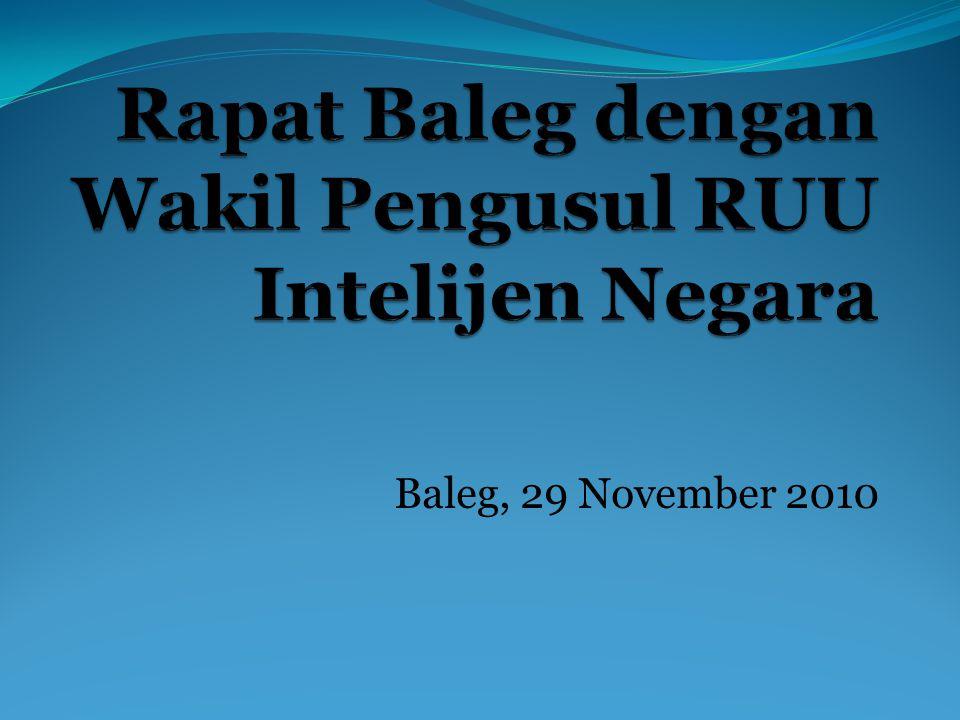 Baleg, 29 November 2010