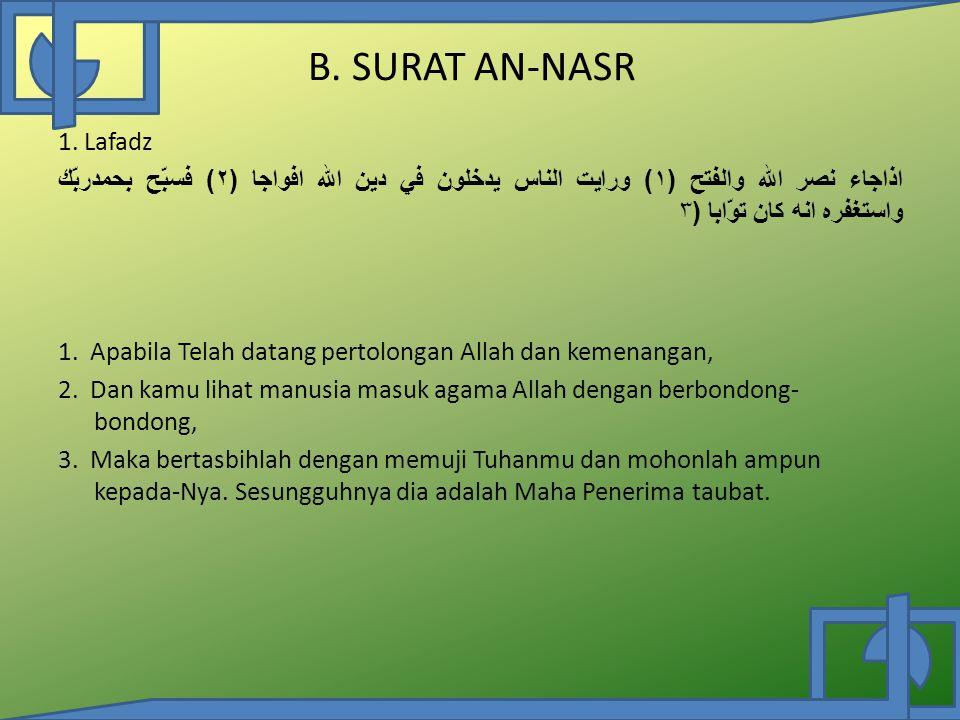 B.SURAT AN-NASR 1.