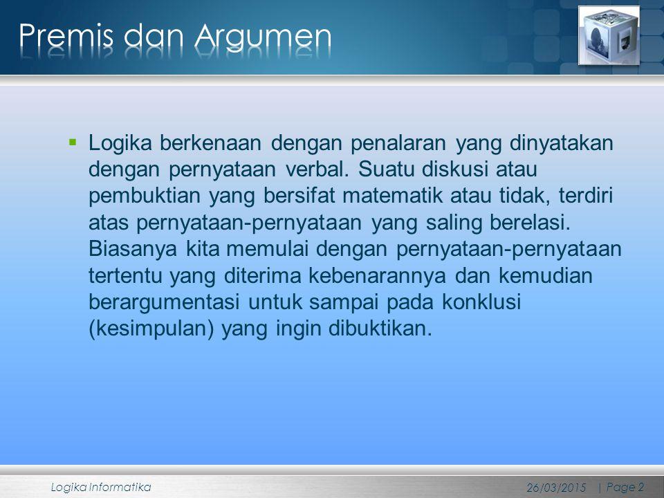 Premis 1 : (p  q)  (r  s) Premis 2 : ~ q  ~ s Konklusi : ~ p  ~ r Dilema destruktif ini merupakan kombinasi dari dua argumen modus tolens (perhatikan argumen modus tolen).
