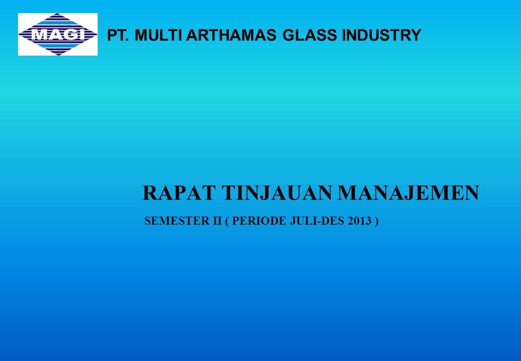 RAPAT TINJAUAN MANAJEMEN SEMESTER II ( PERIODE JULI-DES 2013 ) PT. MULTI ARTHAMAS GLASS INDUSTRY