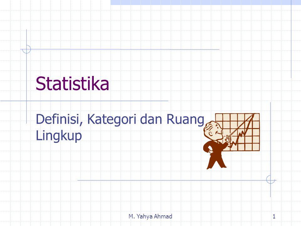 M. Yahya Ahmad1 Statistika Definisi, Kategori dan Ruang Lingkup