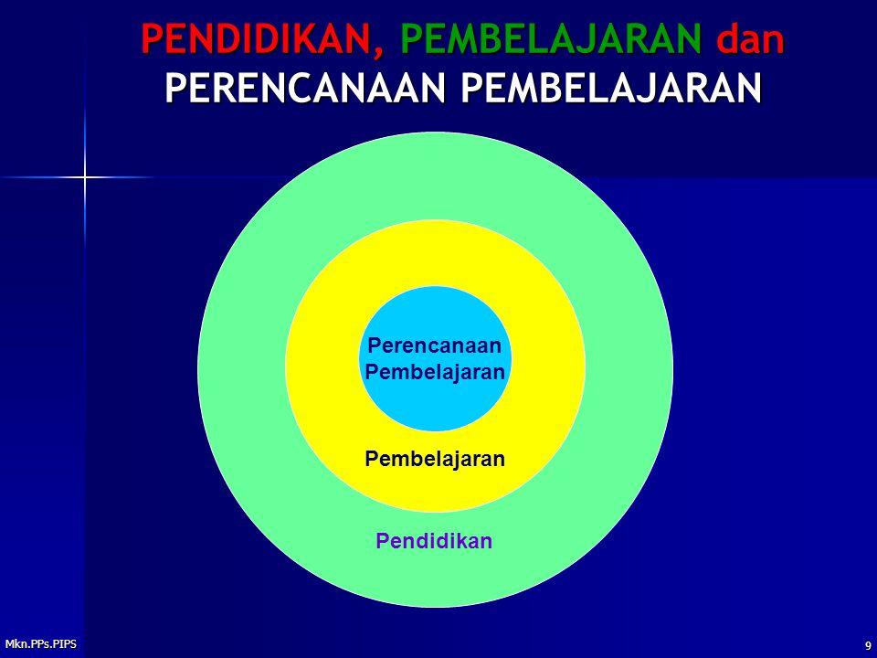Mkn.PPs.PIPS 9 PENDIDIKAN, PEMBELAJARAN dan PERENCANAAN PEMBELAJARAN Pendidikan Pembelajaran Perencanaan Pembelajaran