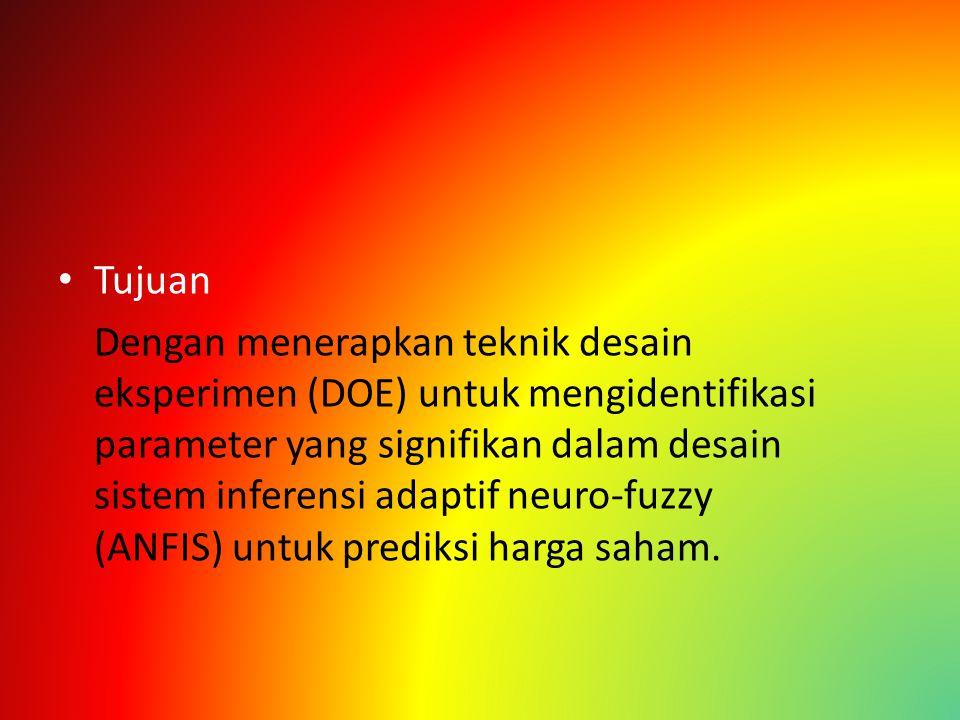 Adaptif Neuro Fuzzy Inference System ANFIS adalah sistem inferensi fuzzy yang dapat dilatih untuk model koleksi input-output data.