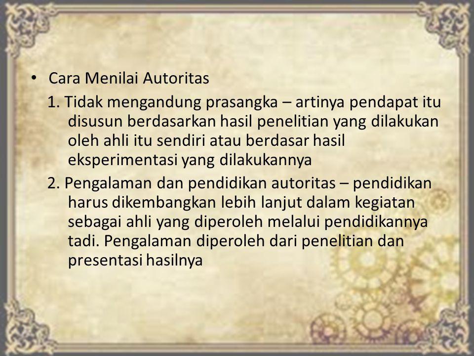 Cara Menilai Autoritas 1.