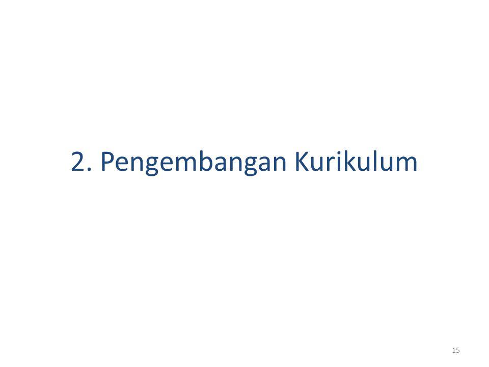 15 2. Pengembangan Kurikulum