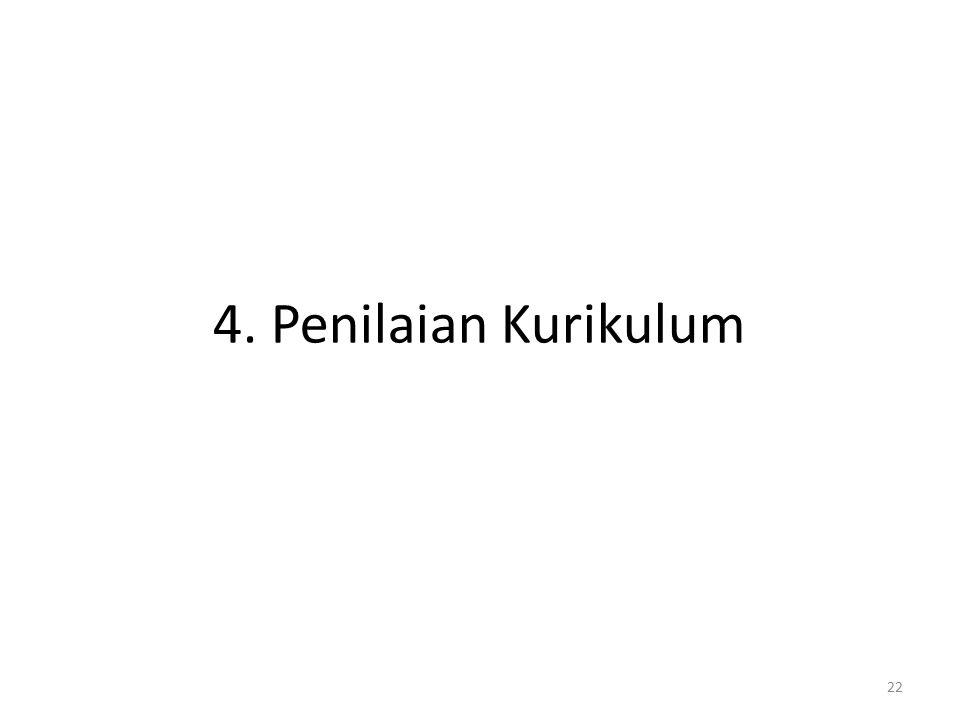22 4. Penilaian Kurikulum