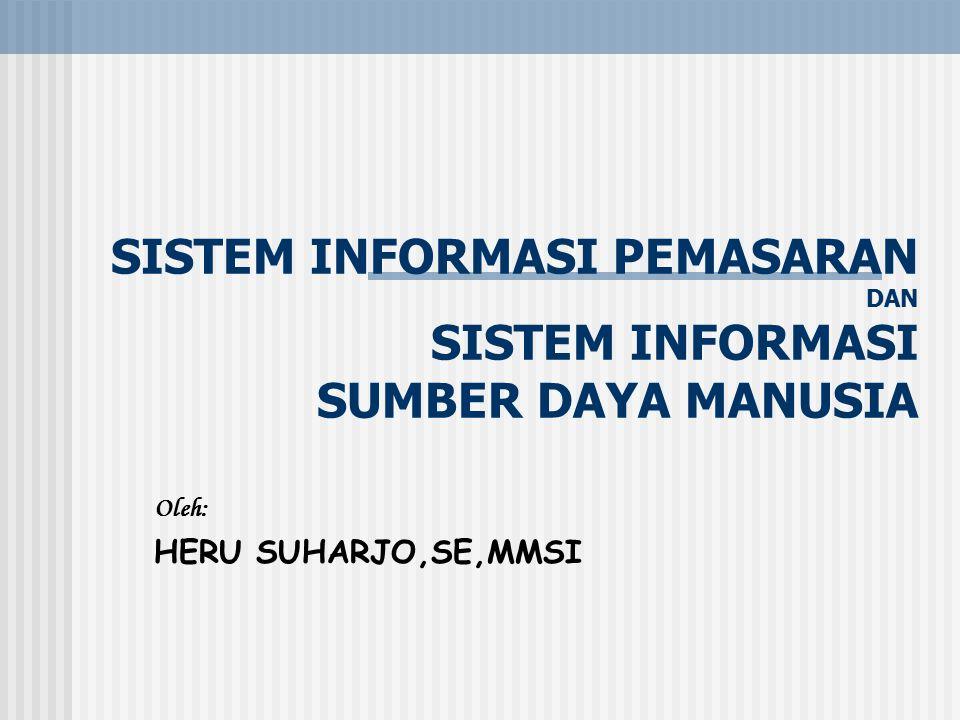 Sistem Informasi Pemasaran adalah : Suatu Sistem berbasis komputer yang bekerja sama dengan sistem informasi fungsional lain untuk mendukung manajemen perusahaan dalam menyelesaikan masalah yang berhubungan dengan pemasaran produk perusahaan Identifikasi informasi Pemasaran menurut Philip Kotler ada 3 komponen yaitu : a.