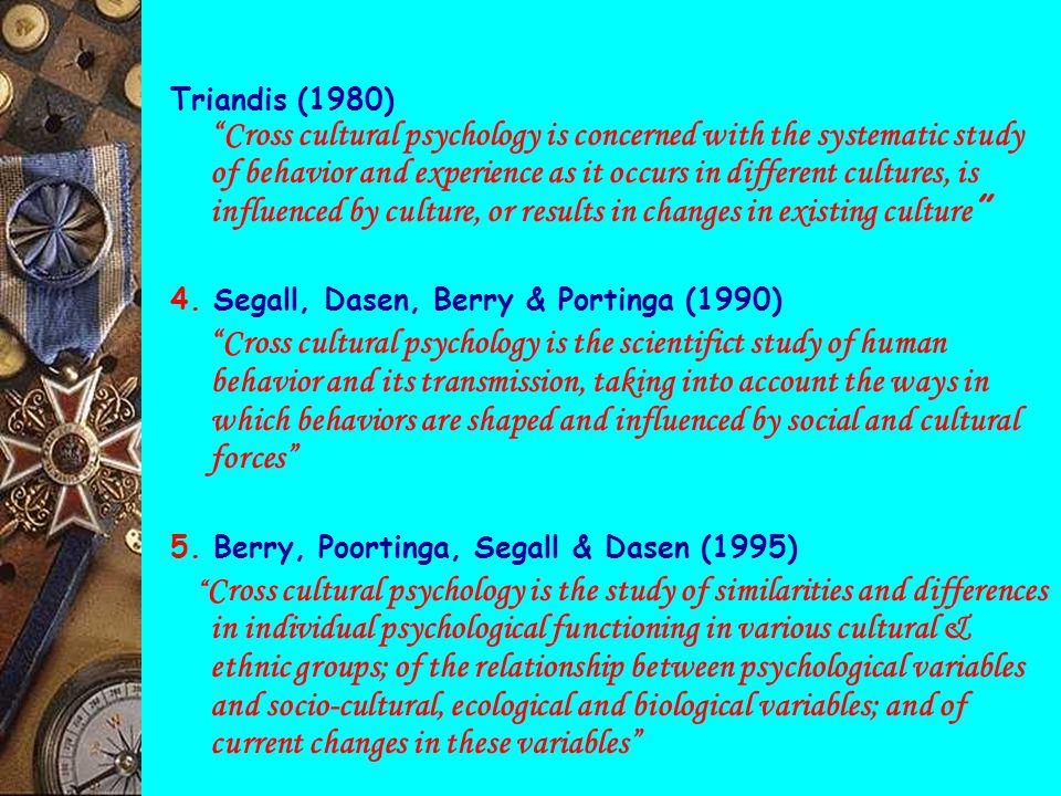 "PSIKOLOGI LINTAS BUDAYA DEFINISI & PENGERTIAN 1. Dharmayati Utoyo Lubis (1999) "" Cabang dari psikologi yg menguji batasan-batasan pengetahuan dgn memp"