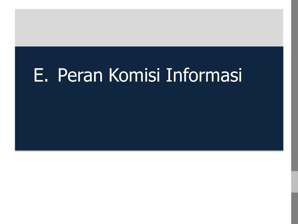 A. A E.Peran Komisi Informasi