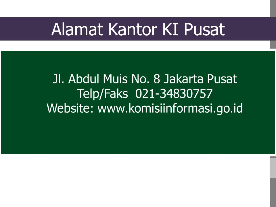Jl.Abdul Muis No.