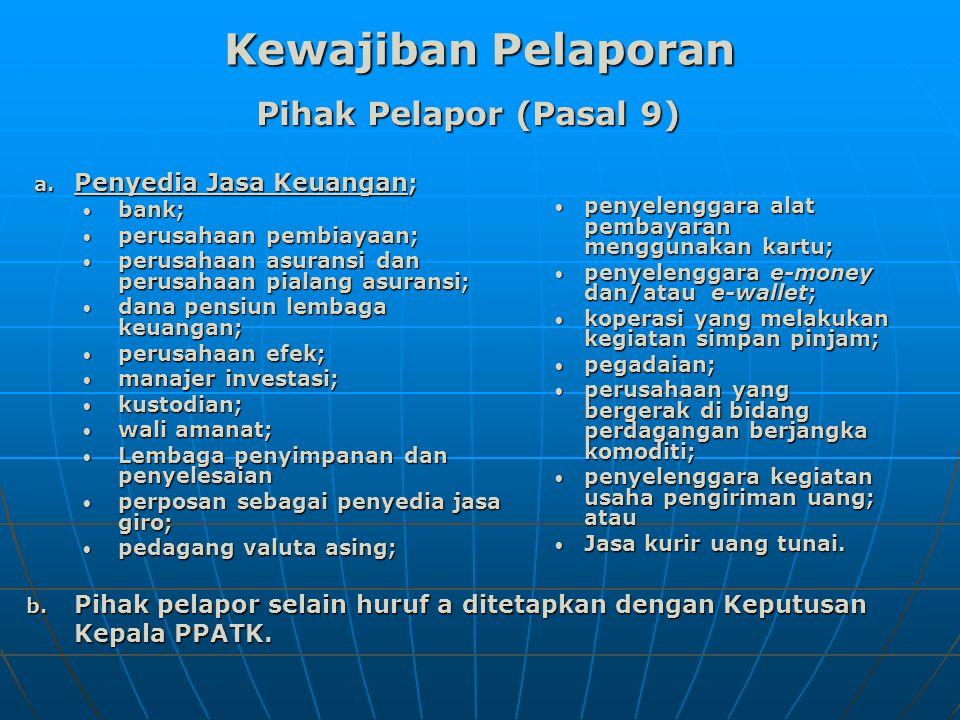 Pihak Pelapor (Pasal 9) a.