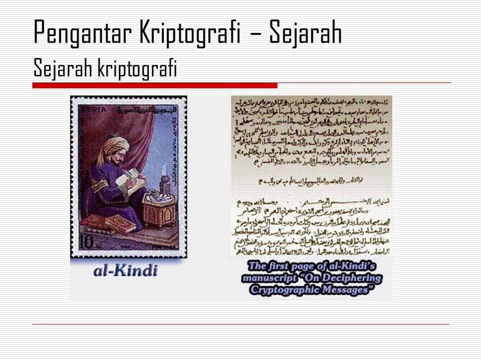 Sejarah kriptografi Pengantar Kriptografi – Sejarah