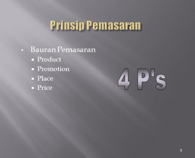  Bauran Pemasaran  Product  Promotion  Place  Price 3