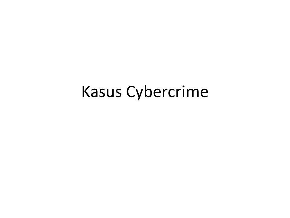 Kasus Cybercrime