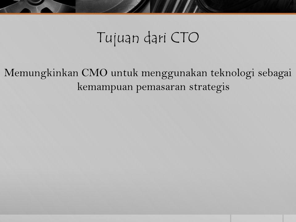 Tujuan dari CTO Memungkinkan CMO untuk menggunakan teknologi sebagai kemampuan pemasaran strategis