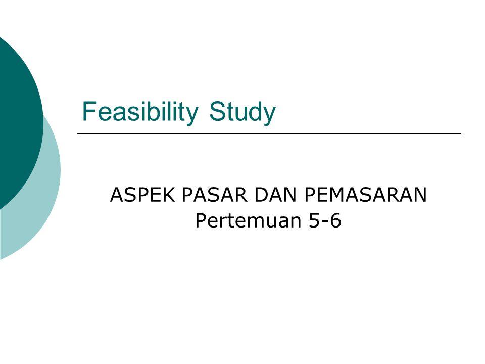 Feasibility Study ASPEK PASAR DAN PEMASARAN Pertemuan 5-6