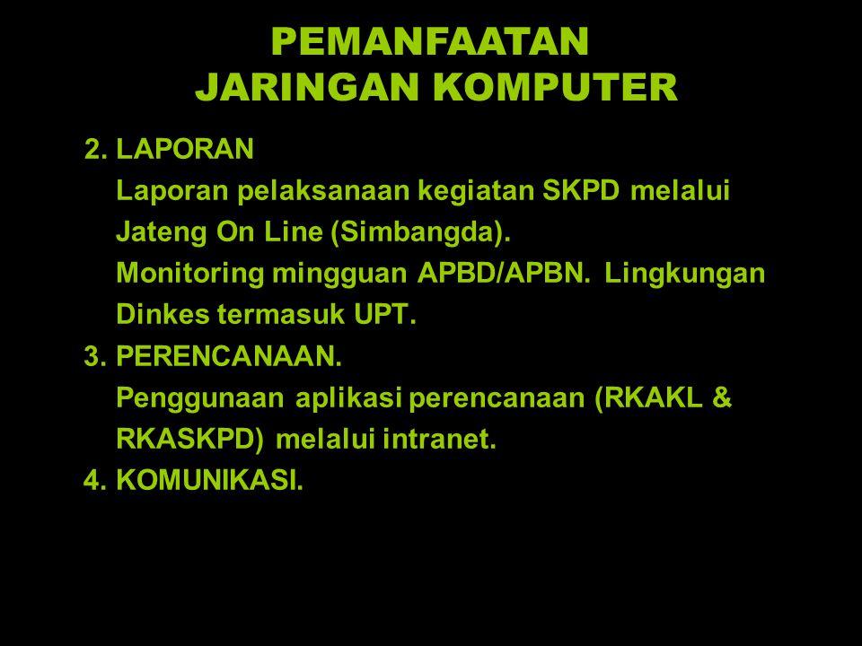 2.LAPORAN Laporan pelaksanaan kegiatan SKPD melalui Jateng On Line (Simbangda).