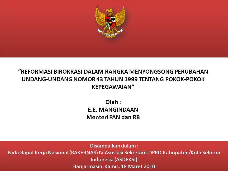 2 Latar Belakang GDRM RB ISI POKOK GDRM RB 2010 – 2025 Krisis ekonomi yang dialami Indonesia pada tahun 1997, telah mengakibatkan tuntutan kuat dari segenap lapisan masyarakat kepada pemerintah untuk segera diadakan reformasi penyelenggaraan kehidupan berbangsa dan bernegara.