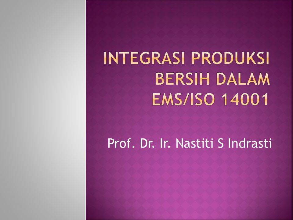 Prof. Dr. Ir. Nastiti S Indrasti