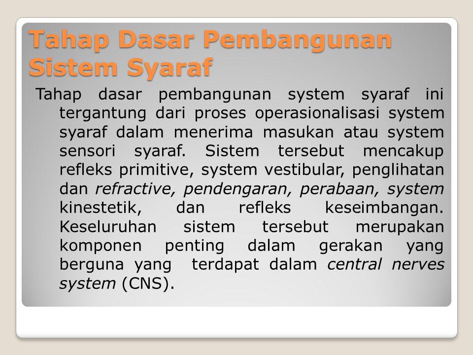Tahap-tahap Perolehan Keterampilan Motorik dalam Olahraga 1. Tahap dasar pembangunan system syaraf, 2. Tahap proses integrasi, 3. Tahap keterampilan f
