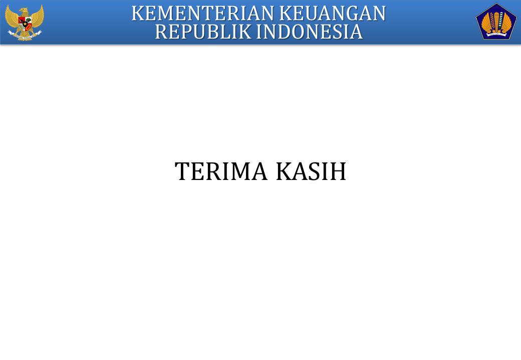 TERIMA KASIH KEMENTERIAN KEUANGAN REPUBLIK INDONESIA