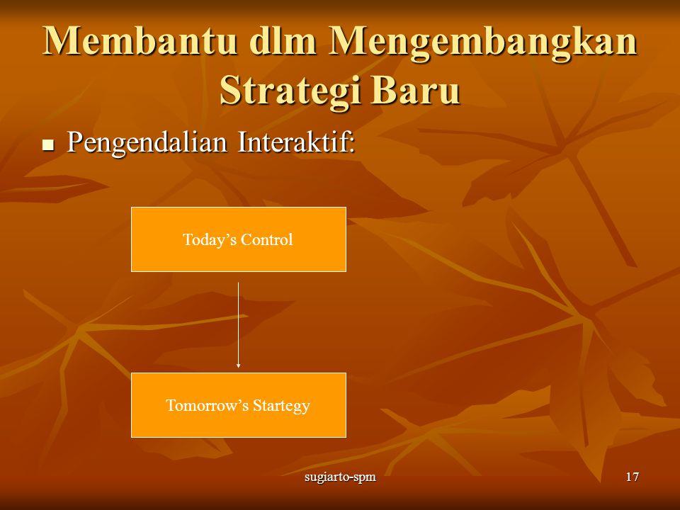 sugiarto-spm17 Membantu dlm Mengembangkan Strategi Baru Pengendalian Interaktif: Pengendalian Interaktif: Today's Control Tomorrow's Startegy