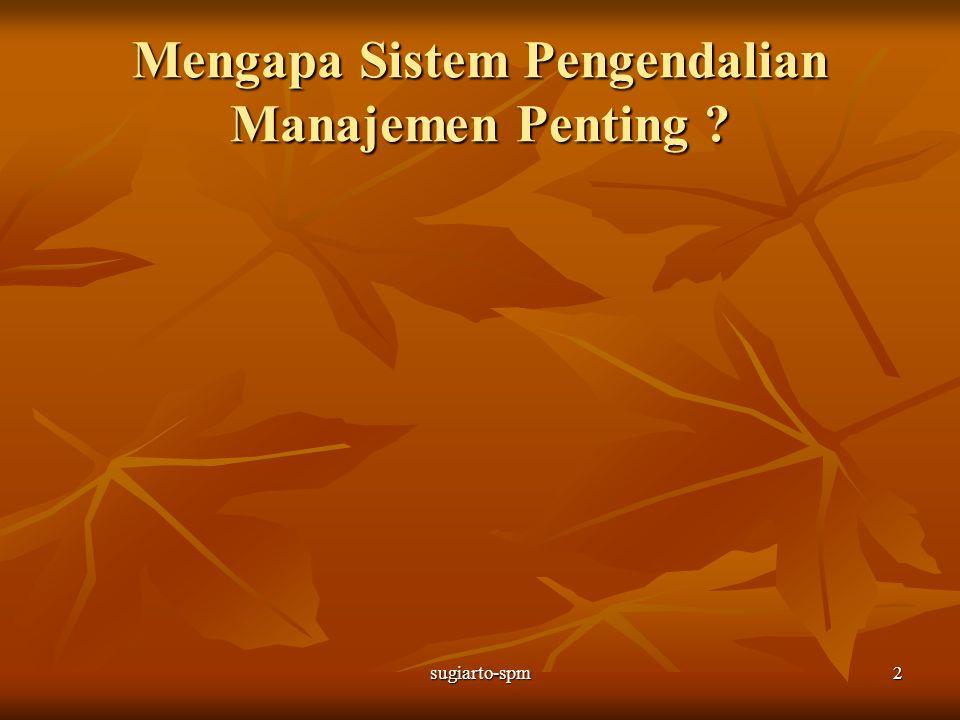 sugiarto-spm2 Mengapa Sistem Pengendalian Manajemen Penting ?