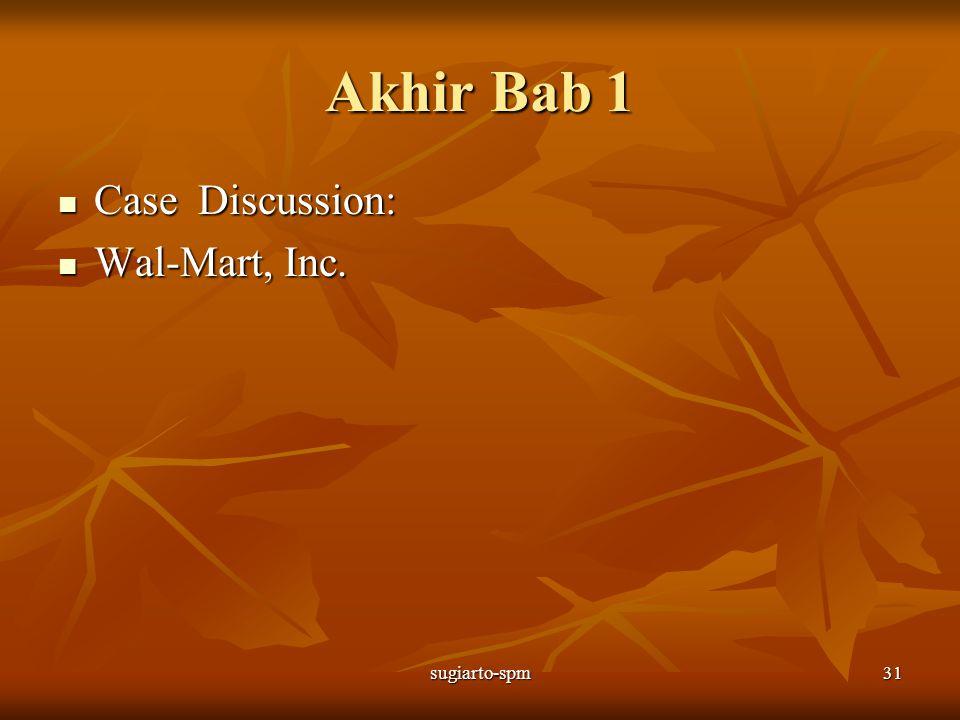 sugiarto-spm31 Akhir Bab 1 Case Discussion: Case Discussion: Wal-Mart, Inc. Wal-Mart, Inc.