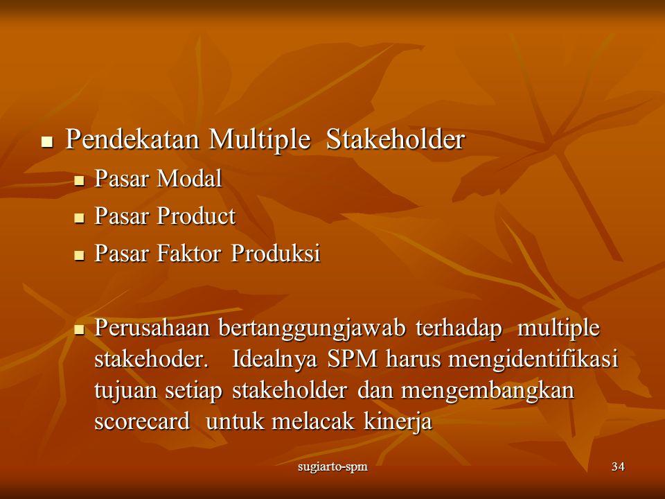 sugiarto-spm34 Pendekatan Multiple Stakeholder Pendekatan Multiple Stakeholder Pasar Modal Pasar Modal Pasar Product Pasar Product Pasar Faktor Produk