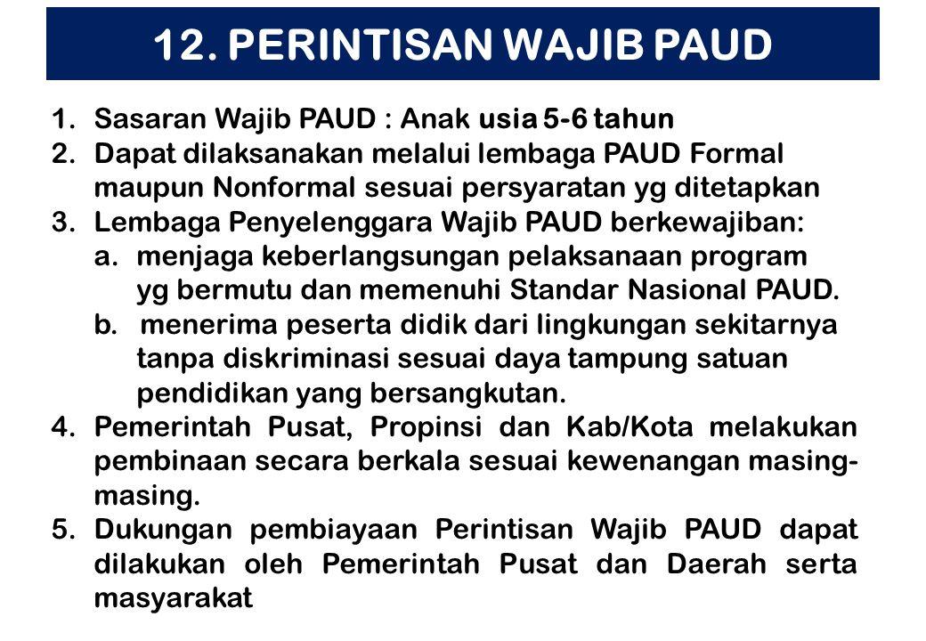 11. PENERAPAN KURIKULUM PAUD 2013