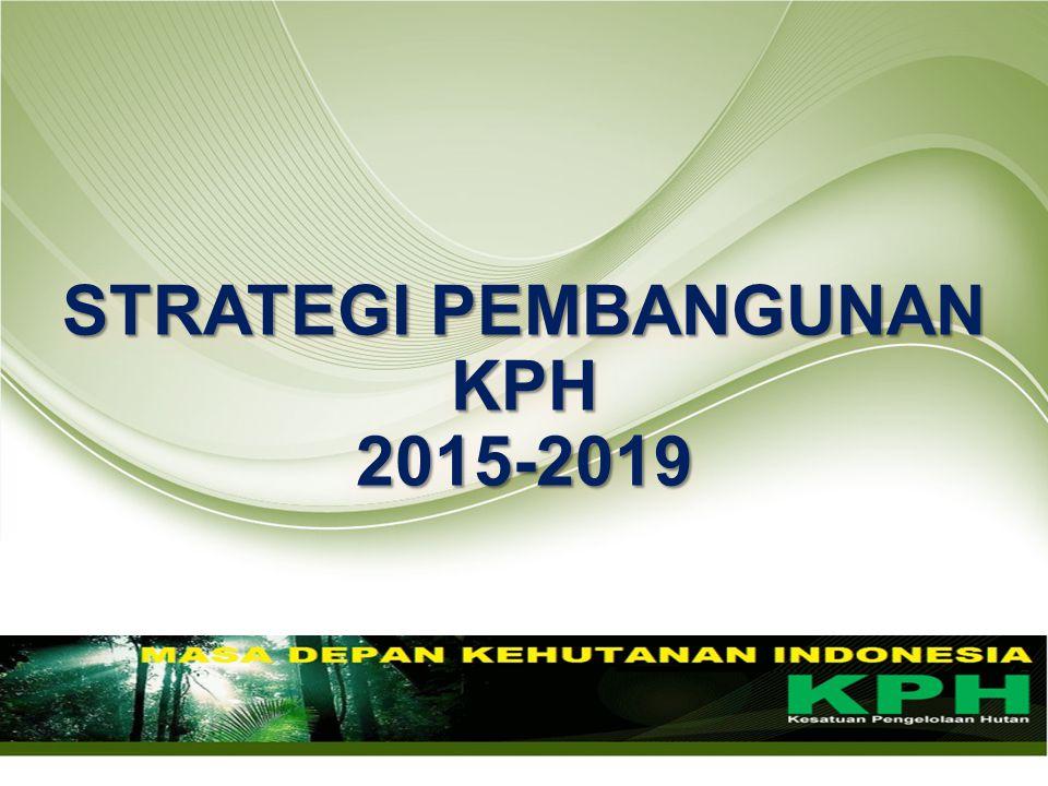 STRATEGI PEMBANGUNAN KPH 2015-2019 2015-2019