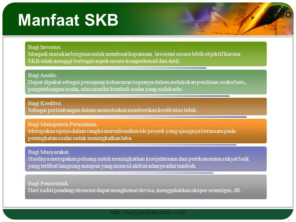LOGO Manfaat SKB Bagi Investor. Menjadi masukan berguna untuk membuat keputusan investasi secara lebih objektif karena SKB telah mengaji berbagai aspe