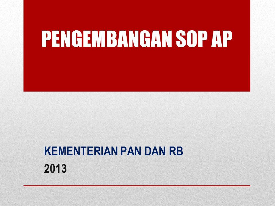 PENGEMBANGAN SOP AP KEMENTERIAN PAN DAN RB 2013