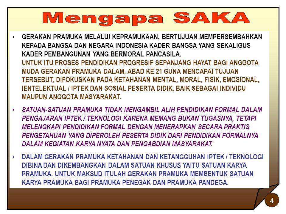 4 GERAKAN PRAMUKA MELALUI KEPRAMUKAAN, BERTUJUAN MEMPERSEMBAHKAN KEPADA BANGSA DAN NEGARA INDONESIA KADER BANGSA YANG SEKALIGUS KADER PEMBANGUNAN YANG