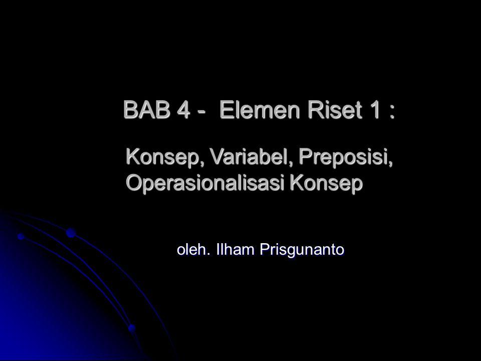 BAB 4 - Elemen Riset 1 : oleh.