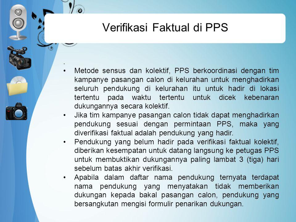 Verifikasi Faktual di PPS.