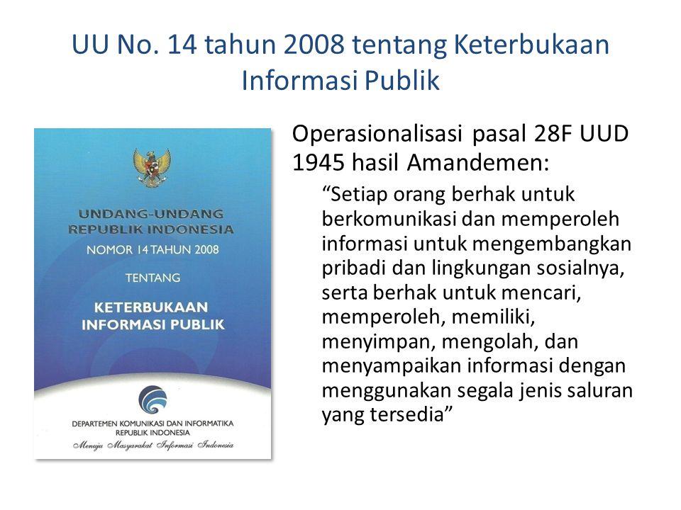 """Pasal 28F UUD 1945 """"Setiap orang berhak untuk berkomunikasi dan memperoleh informasi untuk mengembangkan pribadi dan lingkungan sosialnya, serta berha"""